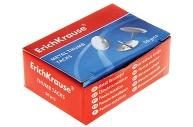 Кнопки канцелярские ERICH KRAUSE металлические, никелированные, 10мм, 50 шт., в карт. коробке, 7851