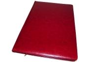 Еженедельник NATURE, кожзам, красный, лин., недатиров., ляссе, 128с., ф. А4 (225*320мм),  (INDEX)