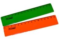 """Линейка 15см Стамм """"Neon"""" пластиковая, с волнистым краем, ассорти"""