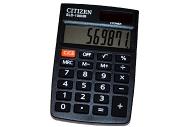 Калькулятор карманный Citizen 8 разр., двойное питание 58*88*10мм, черный
