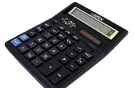 Калькулятор, 12 разр., дв. питание, коррекция, две памяти, черный корпус, разм. 203, 2x158,  (CITIZEN) ~~