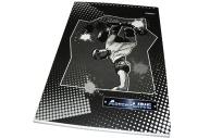 """Блокнот A4 80 листов в клетку """"Proff. AdrenaLINE"""", офсет/обл. мелованный картон+ВД-лак/евроспираль"""