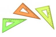 Треугольник 10см 30* NEON ассорти (100шт в упаковке) СТАММ ТК230
