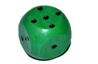 Кубик игральный 1. 5х1. 5х1. 5 см, цветной, зеленые