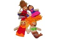 """Игра """"Кук. театр"""" 18224 """"Куклы на пальчики"""" набор 4 шт, 8 см /1 /0 /250"""