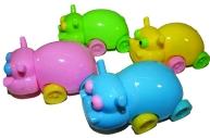 Точилка - детская игрушка: бегемотик, ассорти 4 цвета